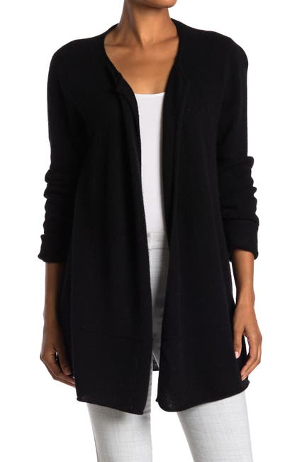 Image of Magaschoni Drape Front Long Cashmere Cardigan