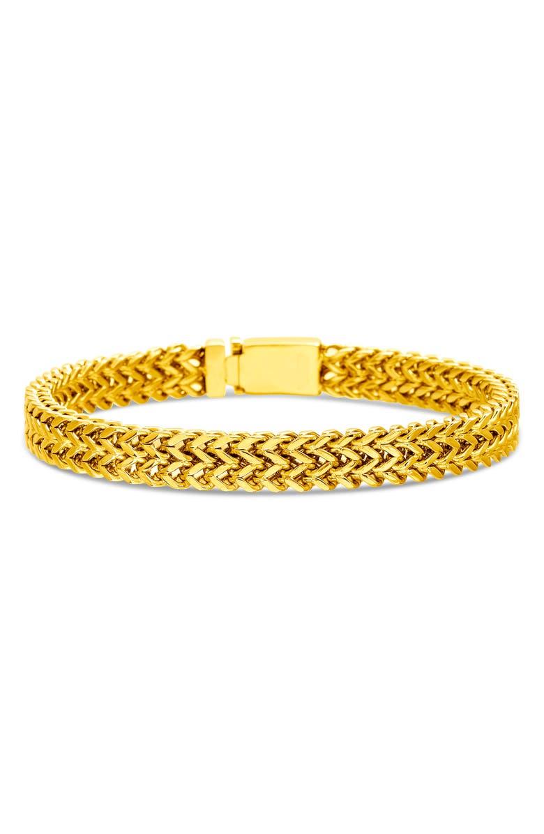 STEVE MADDEN Stainless Steel Foxtail Bracelet, Main, color, GOLD