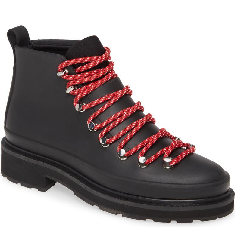 RAG & BONE Compass Hiking Rain Boot, Main, color, BLACK