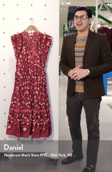 Linnea Floral Midi Dress, sales video thumbnail