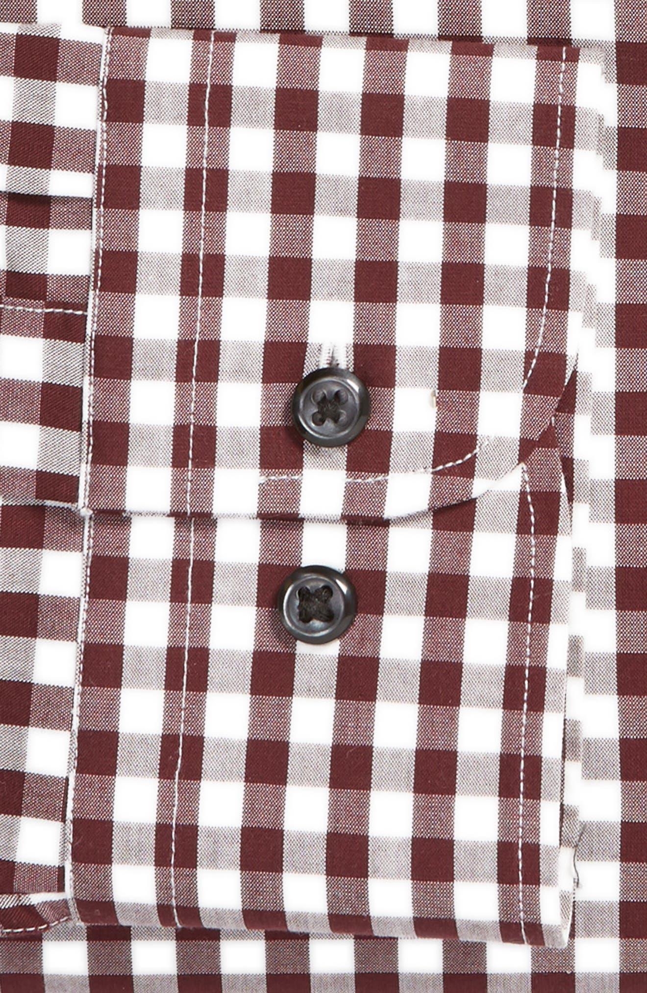 ,                             Tech-Smart Trim Fit Stretch Check Dress Shirt,                             Alternate thumbnail 56, color,                             930
