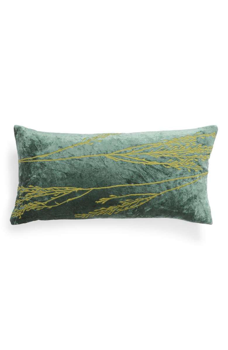 TREASURE & BOND Stonewashed Embroidered Velveteen Accent Pillow, Main, color, 300