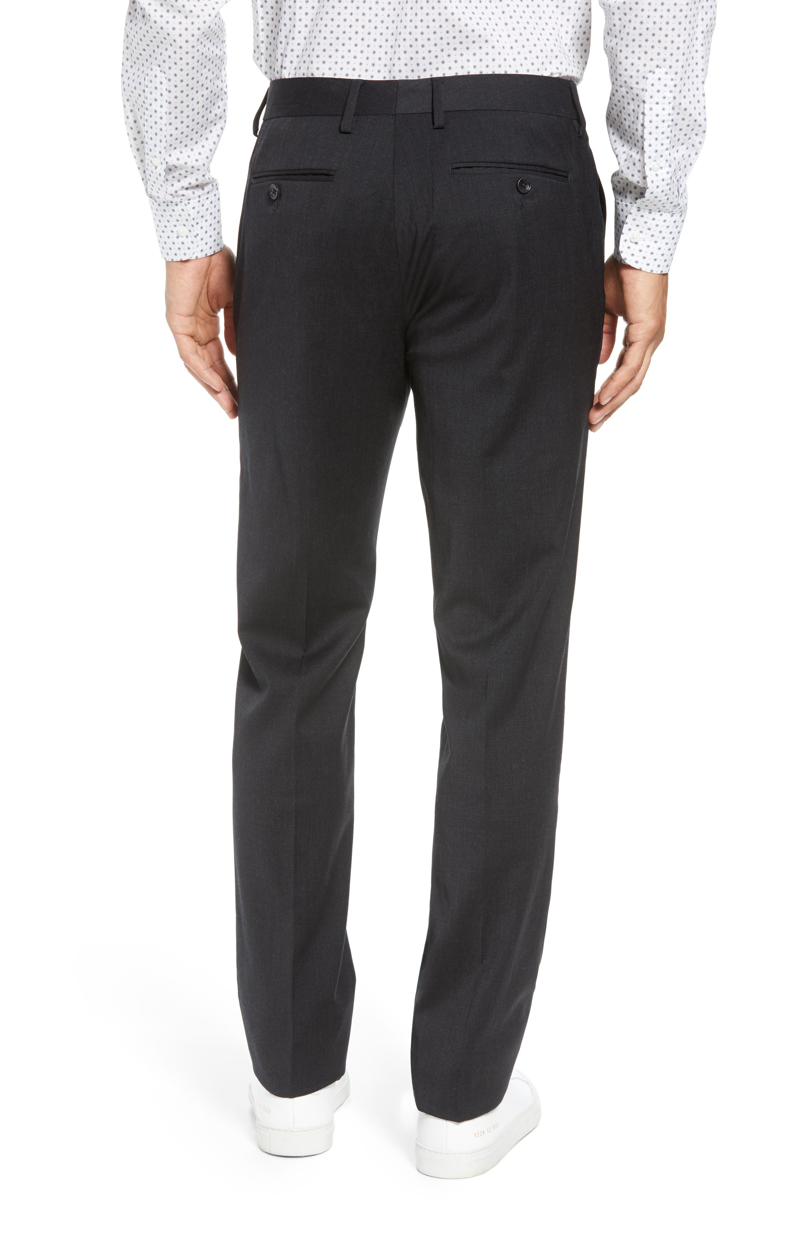 ,                             Jetsetter Slim Fit Flat Front Stretch Wool Trousers,                             Alternate thumbnail 14, color,                             021