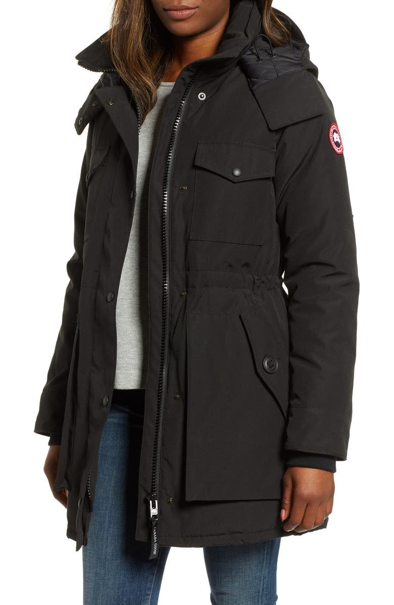 CANADA GOOSE Gabriola Water Resistant Arctic Tech 625 Fill Power Down Parka, Main, color, BLACK