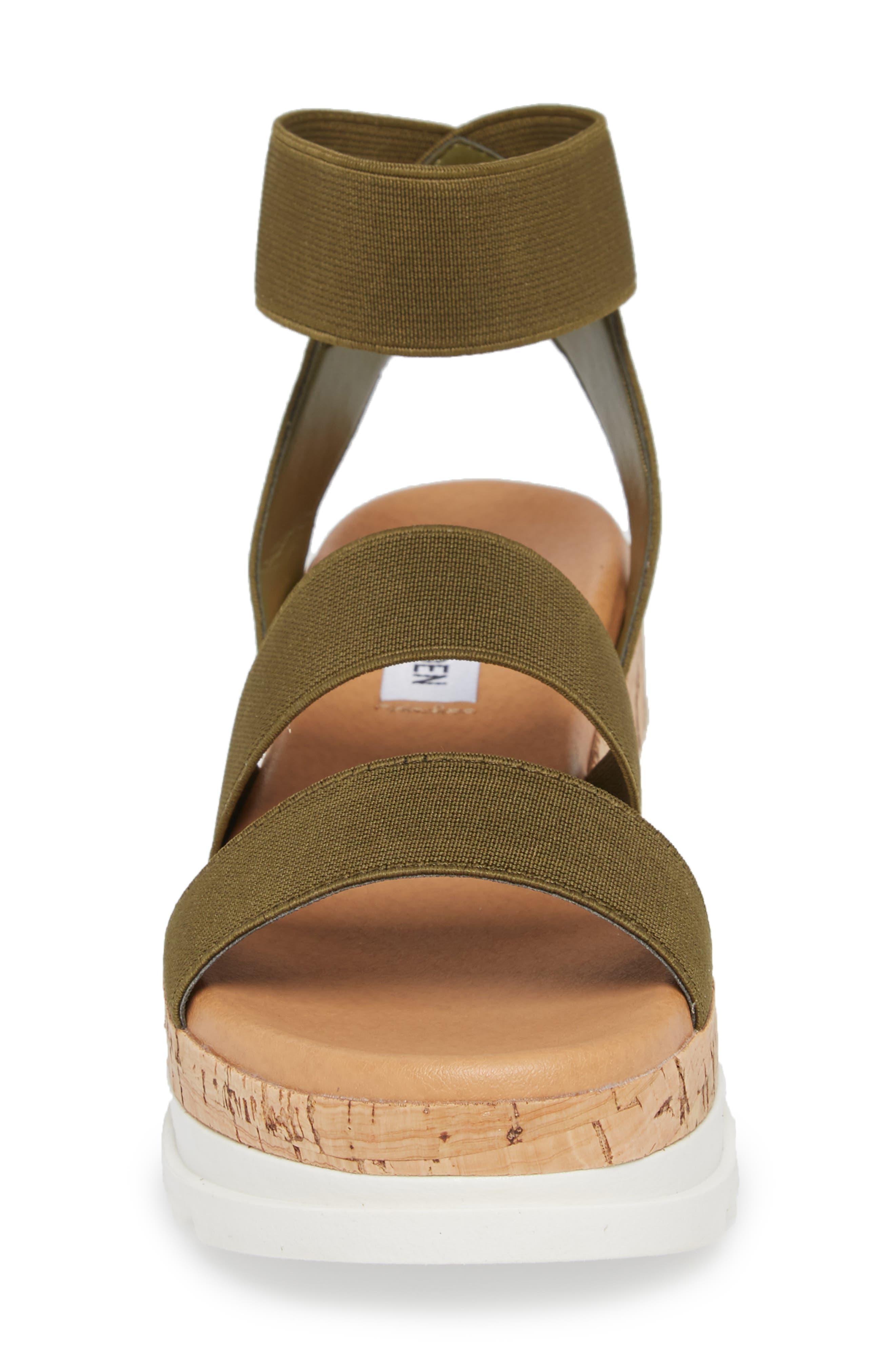 ,                             Bandi Platform Wedge Sandal,                             Alternate thumbnail 4, color,                             OLIVE