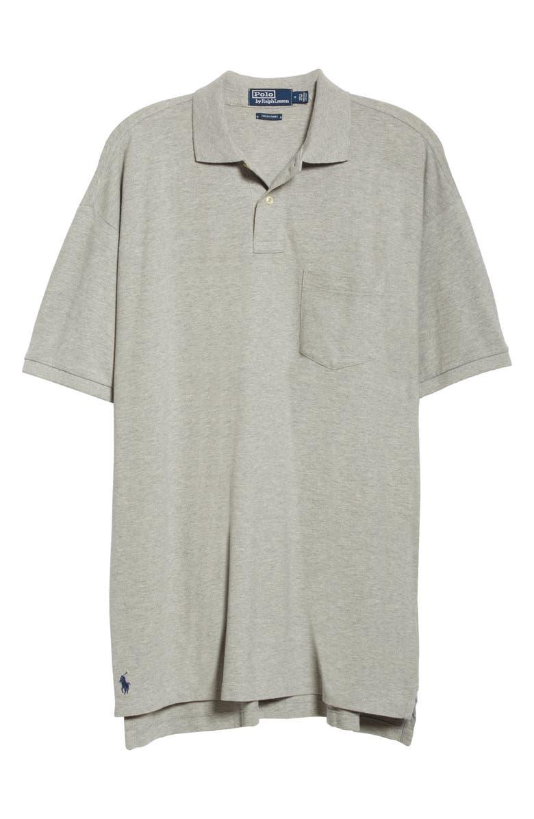 POLO RALPH LAUREN Big Mesh Short Sleeve Polo, Main, color, ANDOVER HEATHER