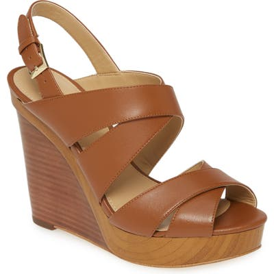 Michael Michael Kors Dana Wedge Sandal, Brown