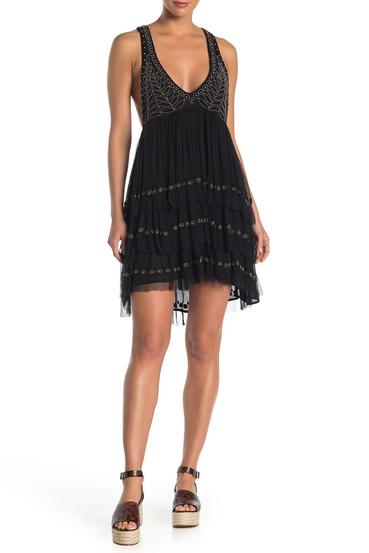 Image of Free People Twilight Beaded Mini Dress