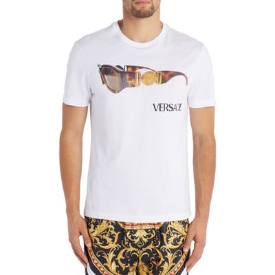 Versace Sunglasses Graphic T-Shirt, White