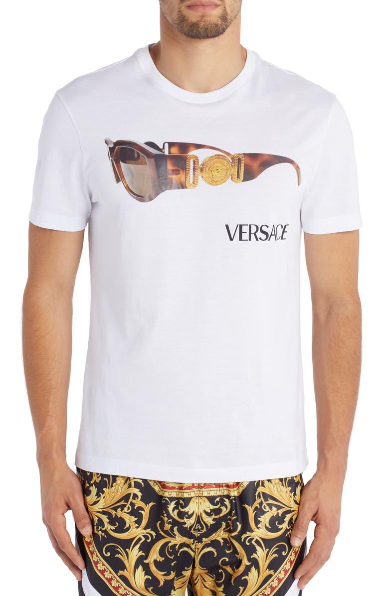 VERSACE Medusa Biggie Sunglasses Graphic Tee, Main, color, 100