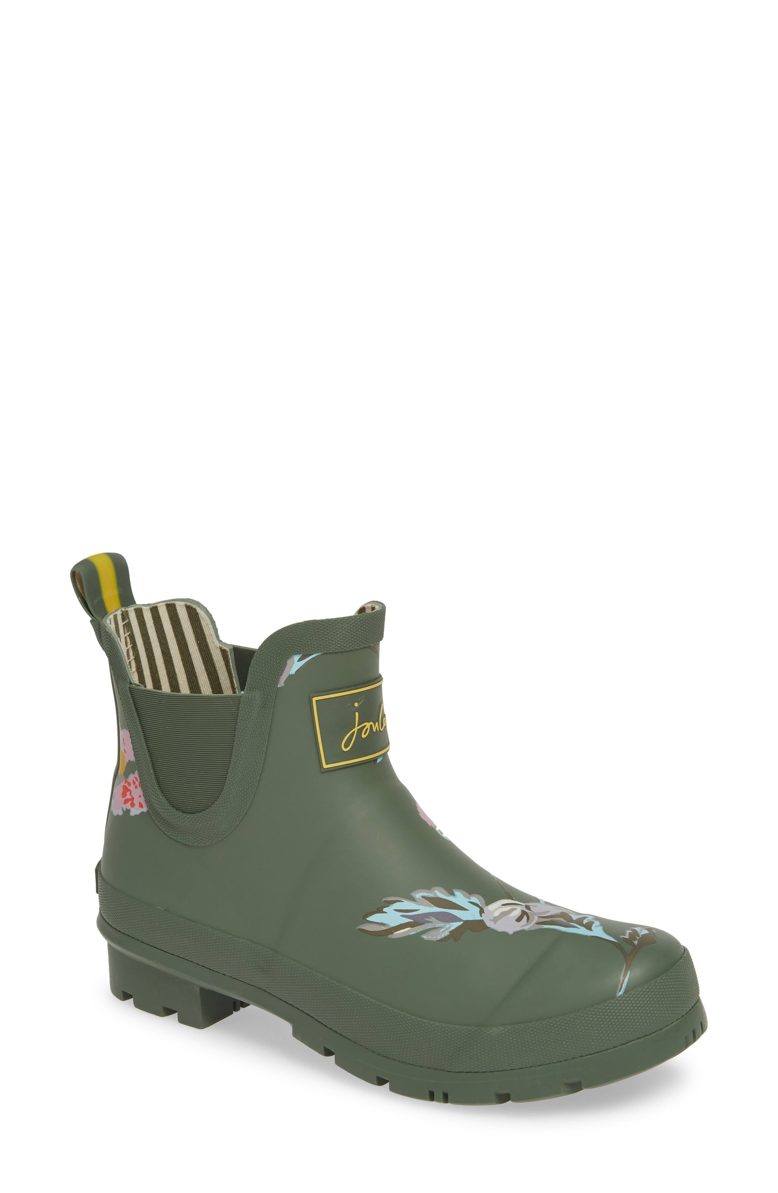 Joules Wellibob Short Rain Boot, Green
