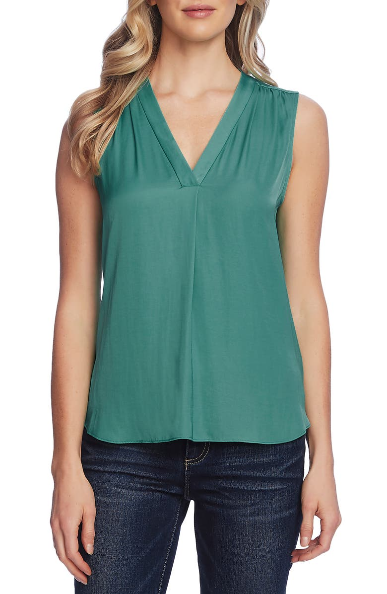 VINCE CAMUTO Rumpled Satin Blouse, Main, color, 440