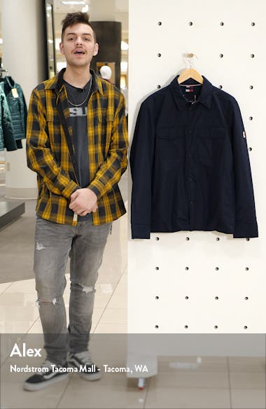 Padded Snap-Up Shirt Jacket, sales video thumbnail