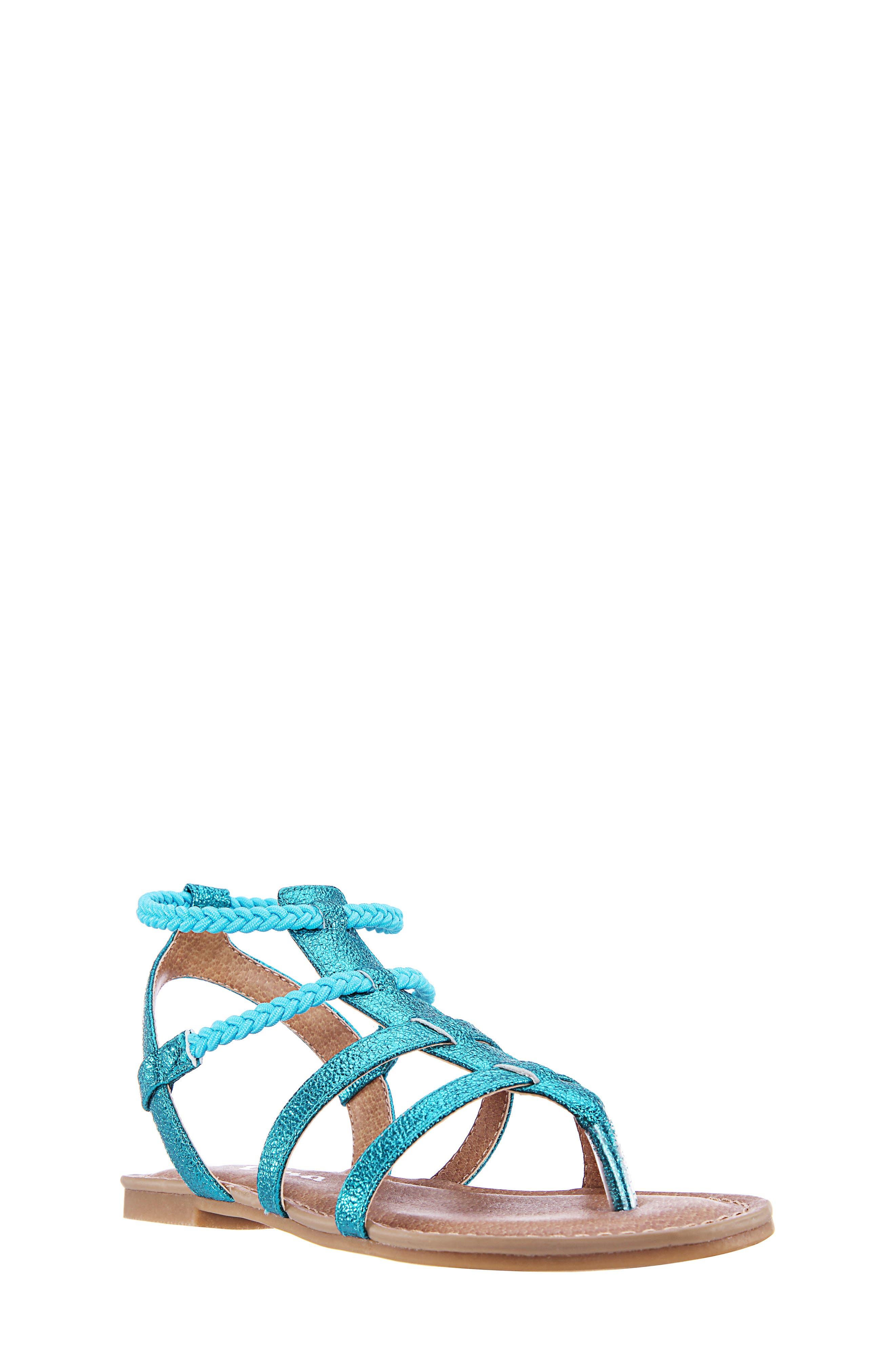 Girls Nina Margaree Gladiator Thong Sandal Size 13 M  Bluegreen
