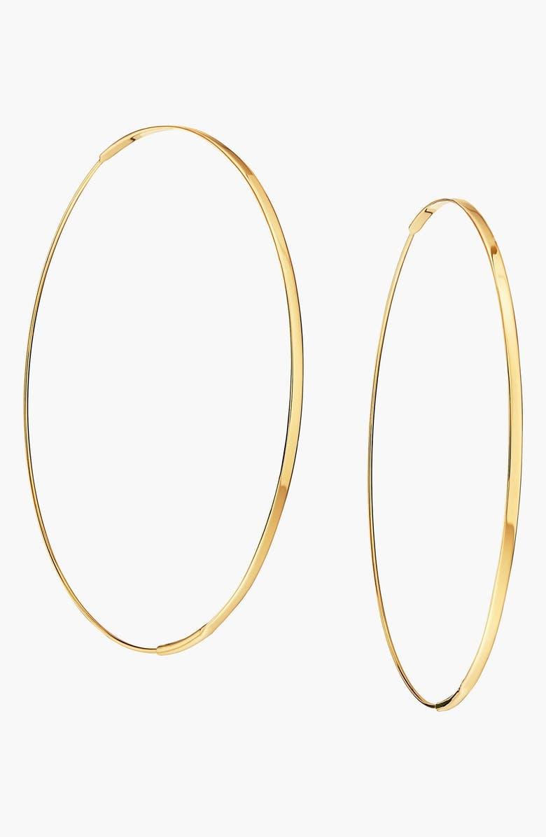 LANA JEWELRY 'Large Flat Magic' Hoop Earrings, Main, color, YELLOW GOLD