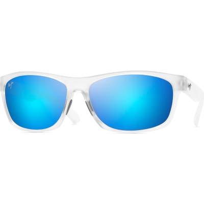 Maui Jim Tumbleland 62Mm Polarized Oversize Sunglasses - Matte Crystal