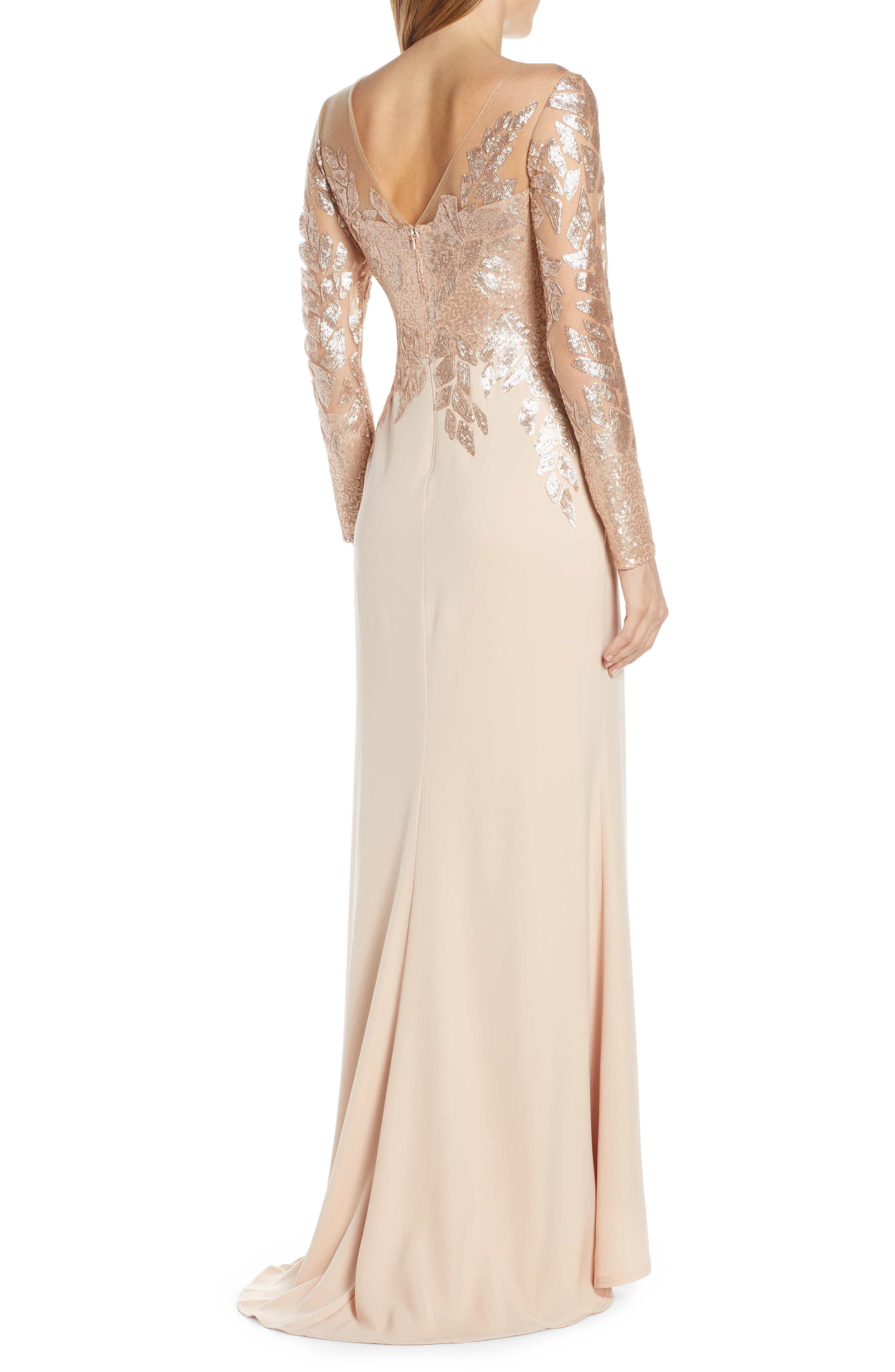 ,                             Sequin Embellished Gown,                             Alternate thumbnail 2, color,                             CHAMPAGNE