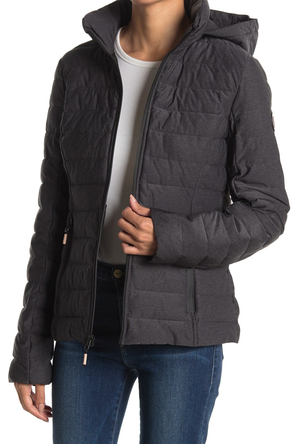 Image of Nautica Hooded Packable Quilted Jacket