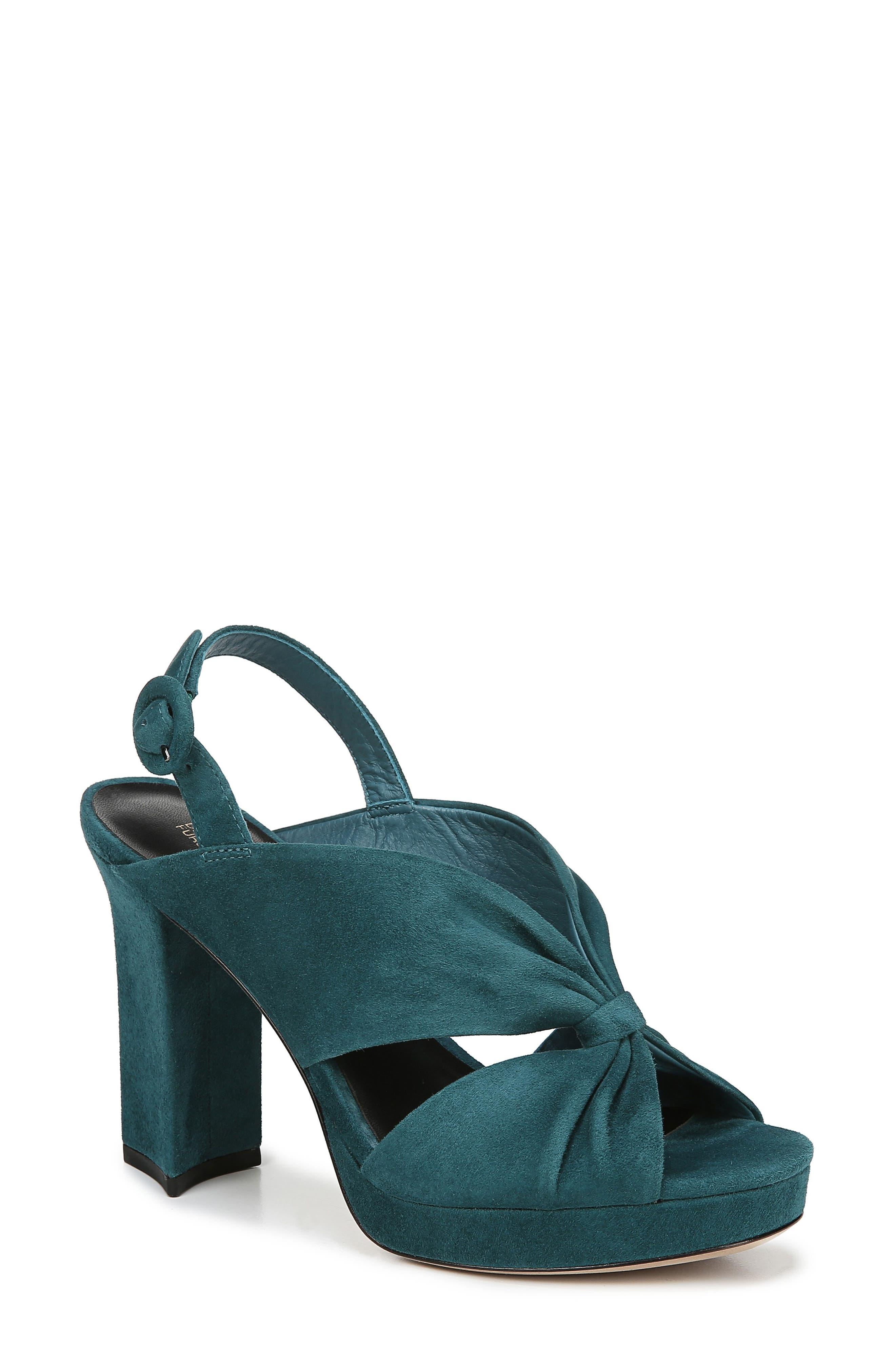 Diane Von Furstenberg Heidi Platform Sandal, Blue/green