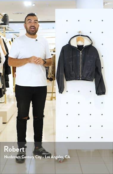 Urban Outfitters Fleece Hood Crop Denim Jacket, sales video thumbnail