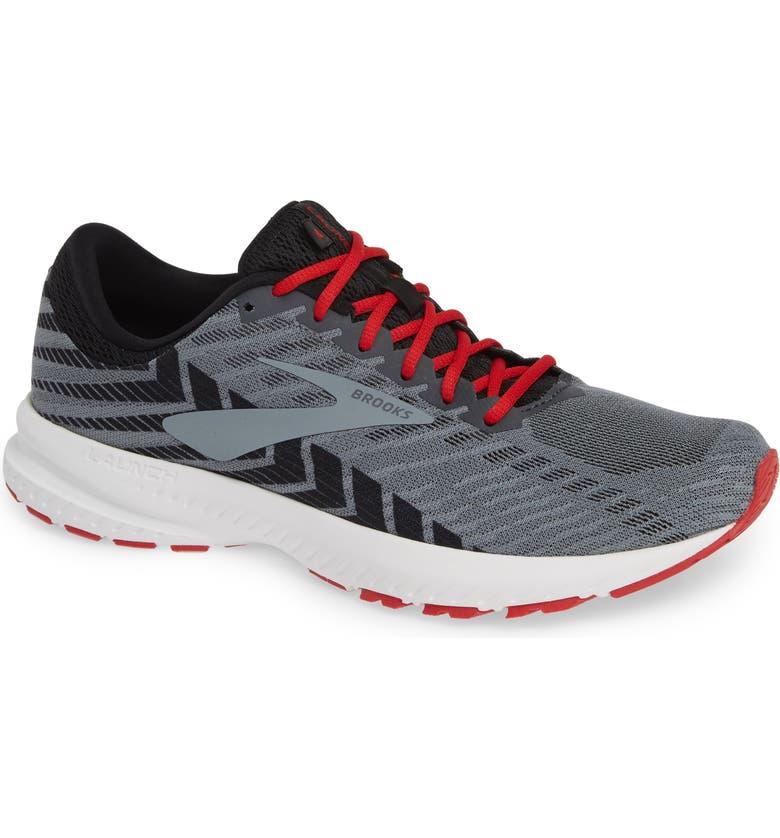 BROOKS Launch 6 Running Shoe, Main, color, EBONY/ BLACK/ CHERRY