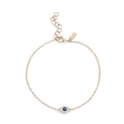 Ef Collection Evil Eye Line Bracelet