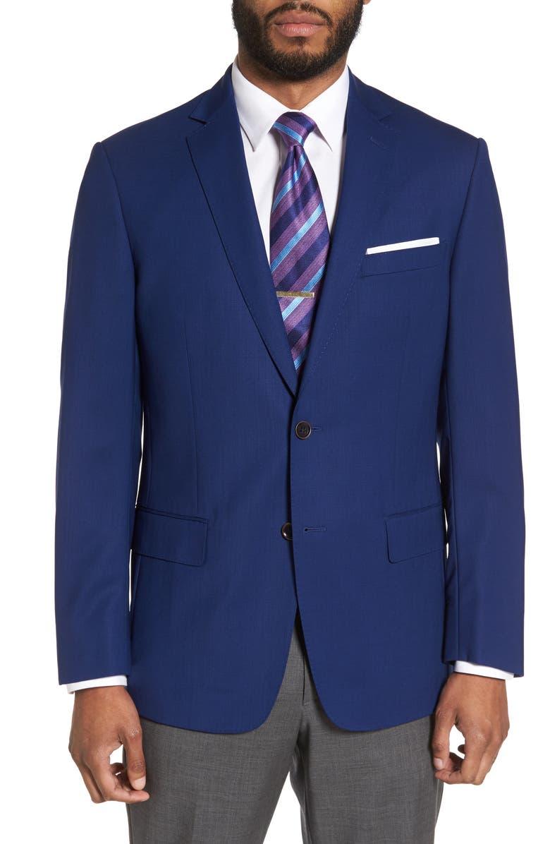 HART SCHAFFNER MARX Jetsetter Classic Fit Wool Blazer, Main, color, 420
