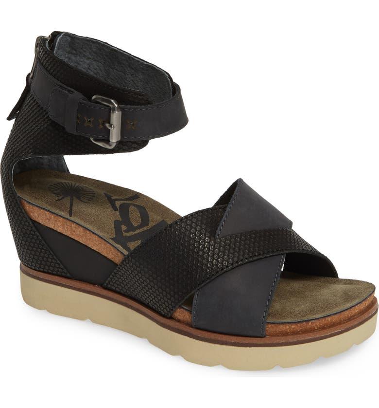 OTBT Teamwork Ankle Strap Sandal, Main, color, BLACK LEATHER