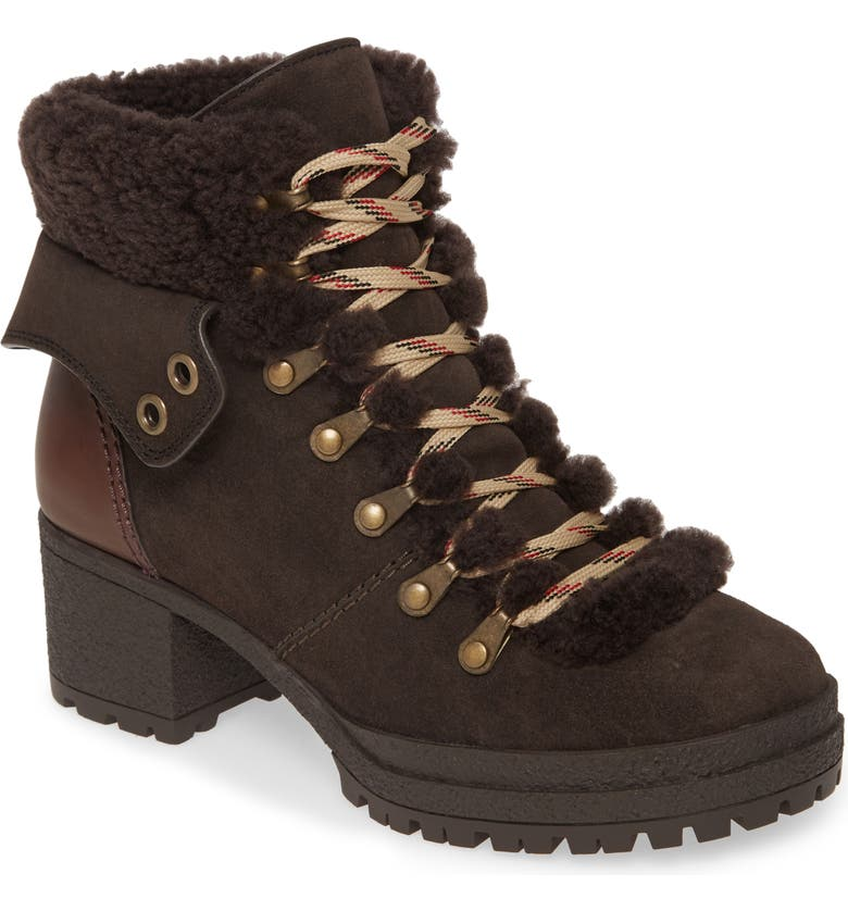 SEE BY CHLOÉ Eileen Lace-Up Boot, Main, color, GRAPHITE