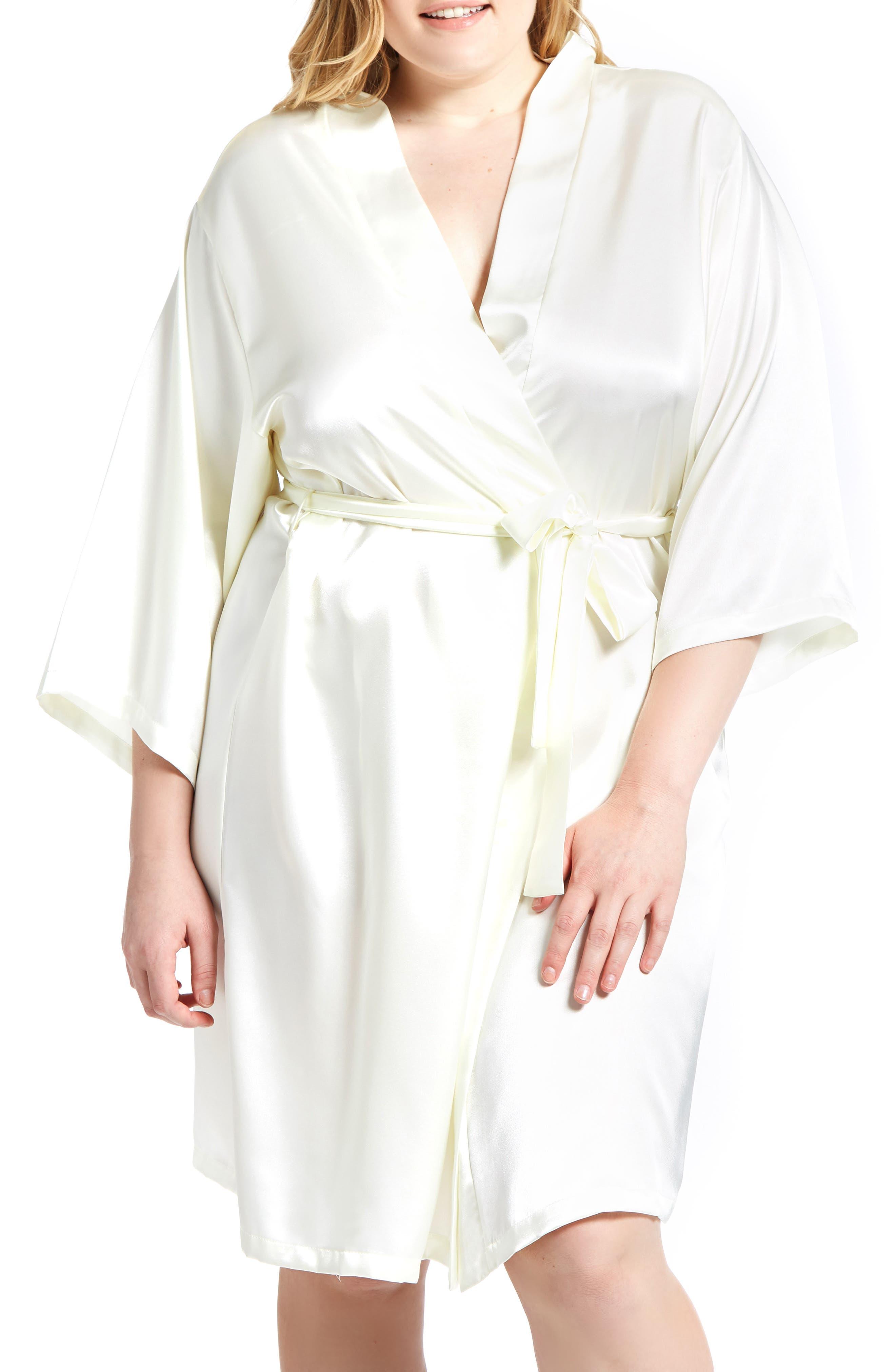 Long Sleeve Satin Robe