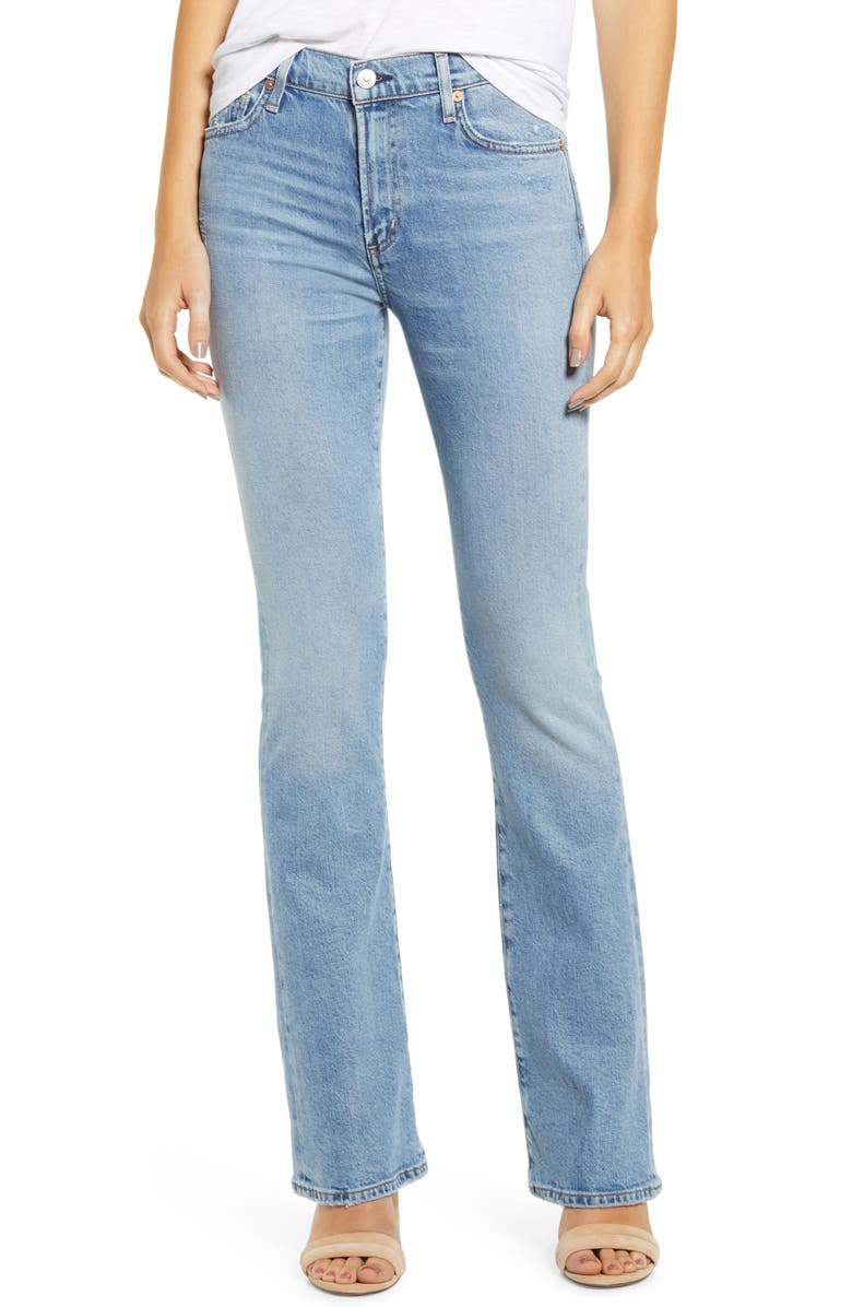 CITIZENS OF HUMANITY Citizen of Humanity Emanuelle Slim Bootcut Jeans, Main, color, CHIT CHAT