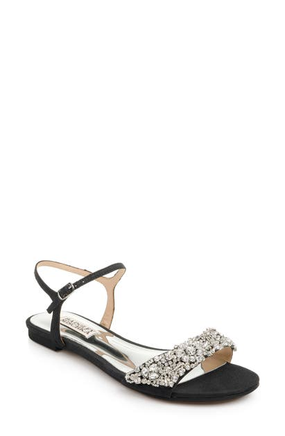 Badgley Mischka Sandals BADGLEY MISCHKA CARMELLA CRYSTAL EMBELLISHED SANDAL