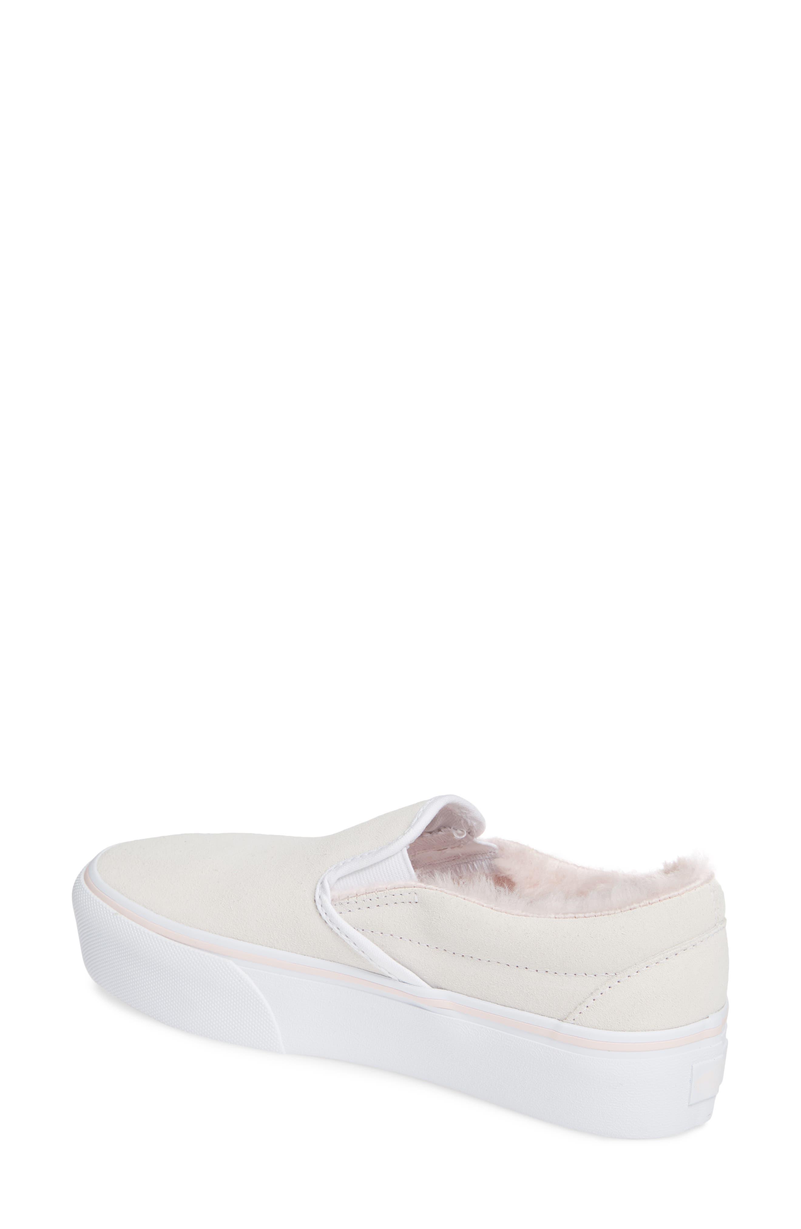,                             Classic Faux Fur Slip-On Platform Sneaker,                             Alternate thumbnail 8, color,                             900