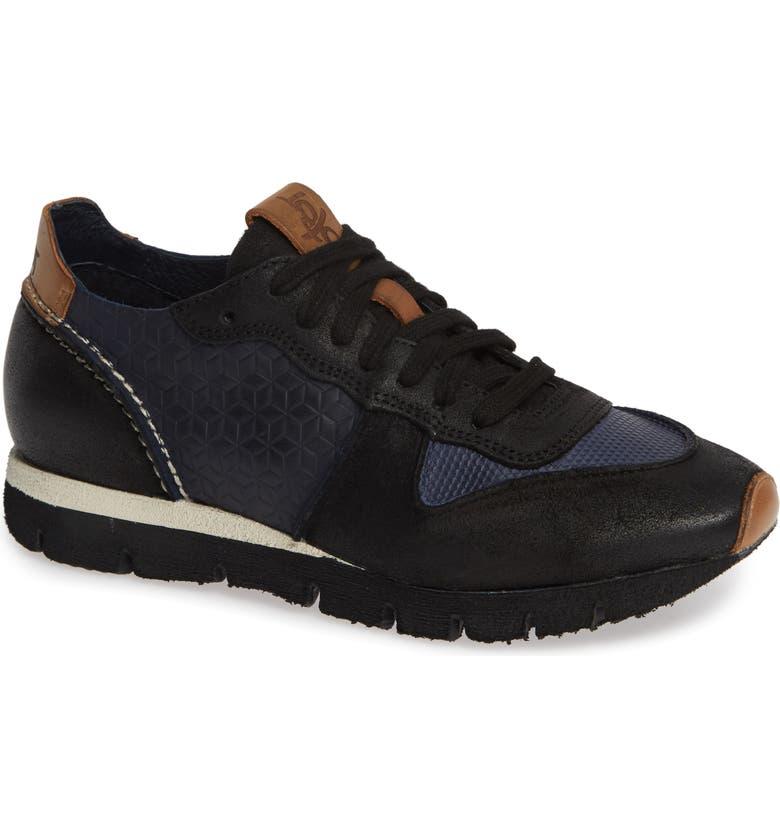 OTBT Snowbird Sneaker, Main, color, BLACK SUEDE/ LEATHER