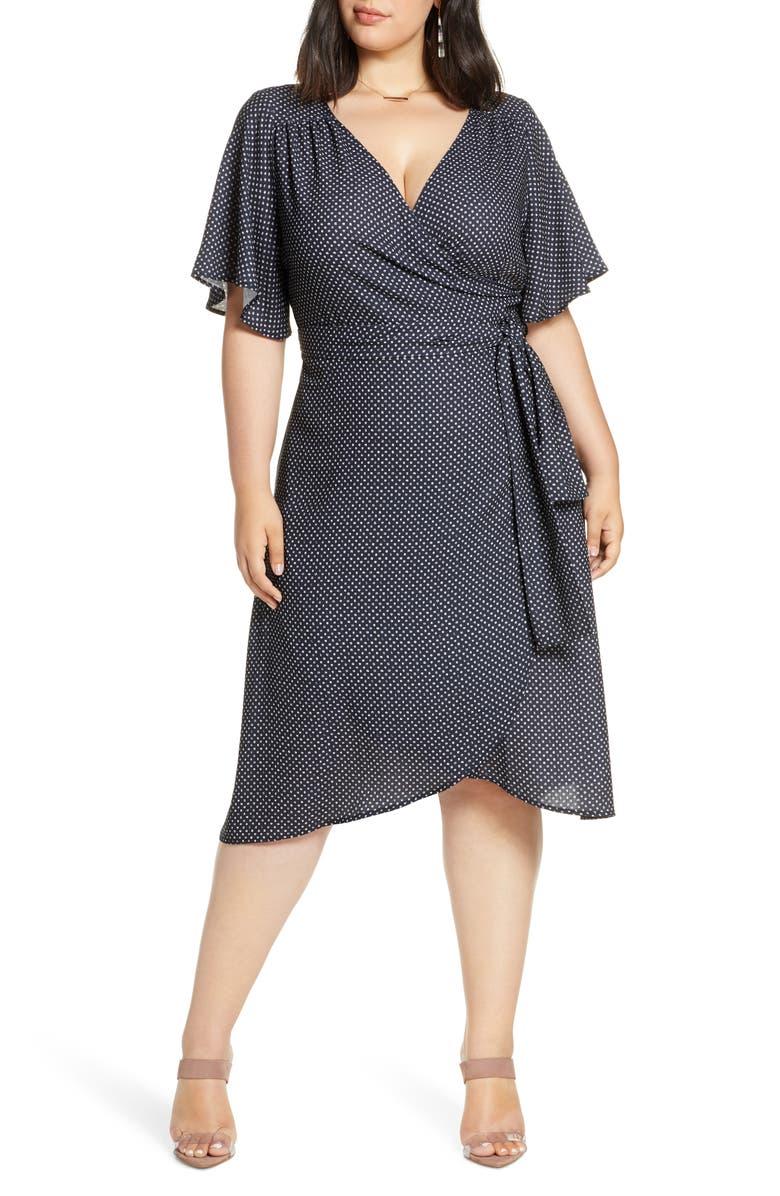 HALOGEN<SUP>®</SUP> Wrap Dress, Main, color, 003