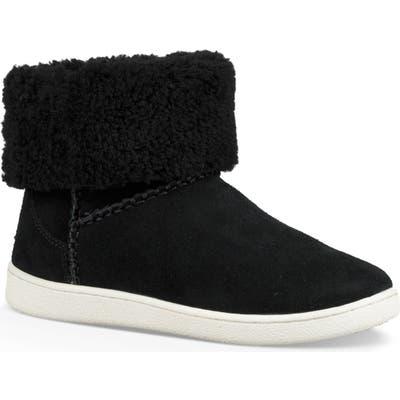 UGG Mika Classic Genuine Shearling Sneaker, Black