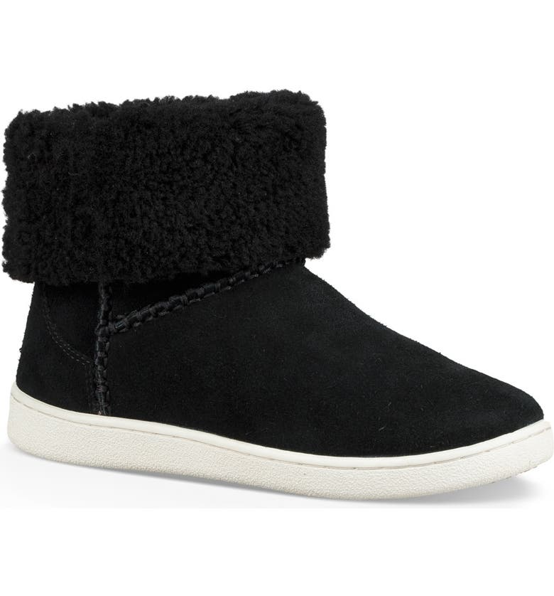 UGG<SUP>®</SUP> Mika Classic Genuine Shearling Sneaker, Main, color, BLACK