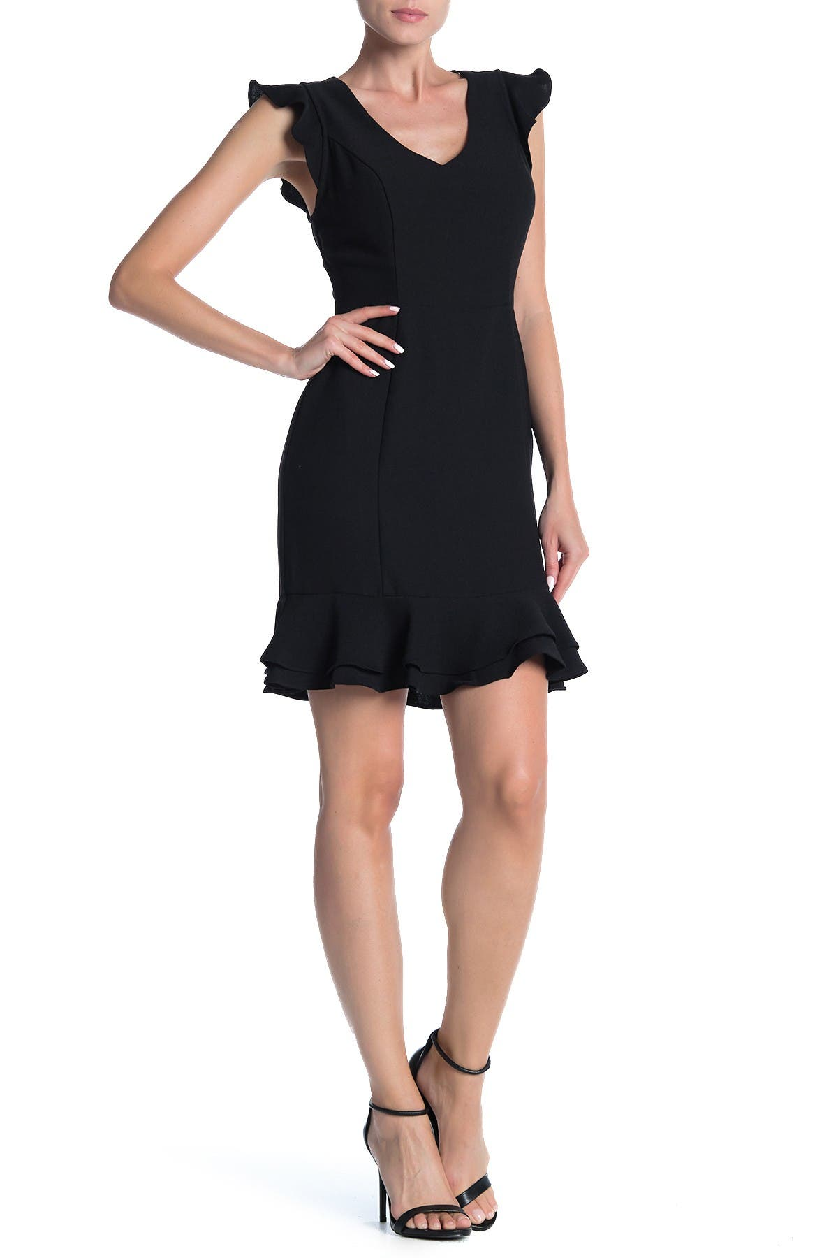 Image of 19 Cooper Lace Back Flutter Sleeve Dress