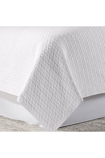 Image of American Home Fashion Twin Estate Tristan Quilt Set - White