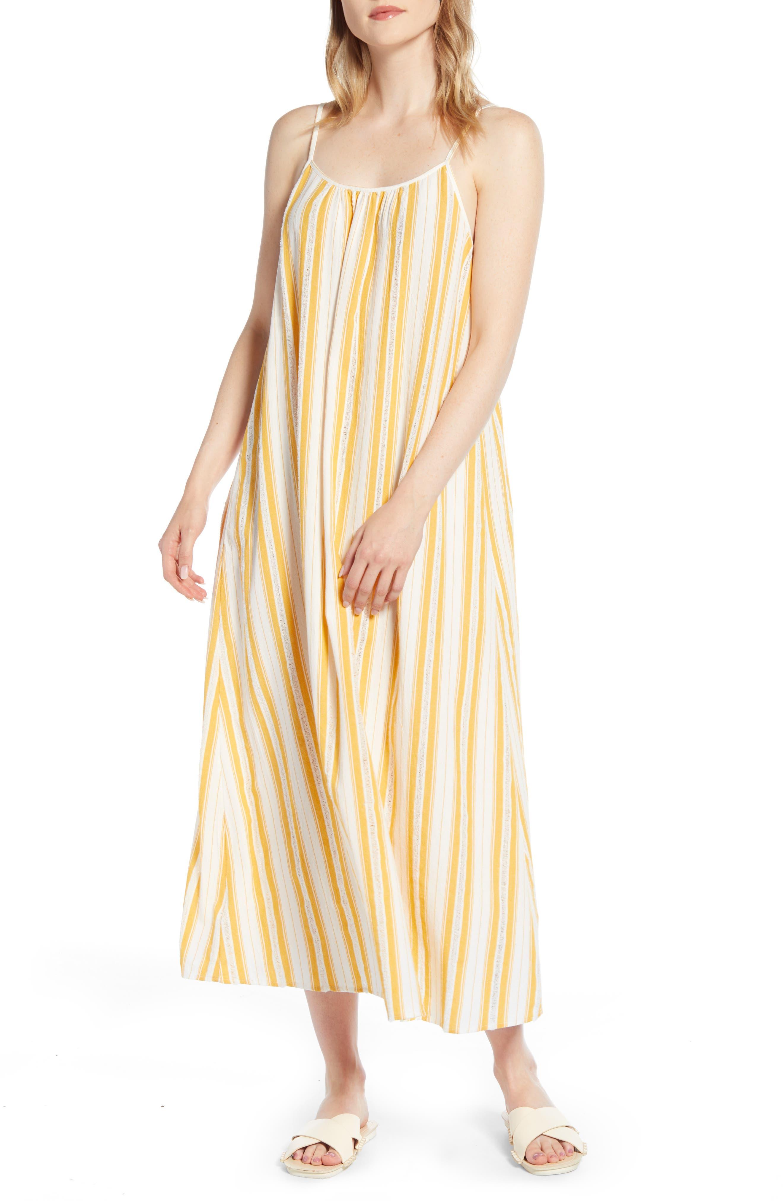 Lou & Grey Dobby Stripe Strappy Maxi Dress, White