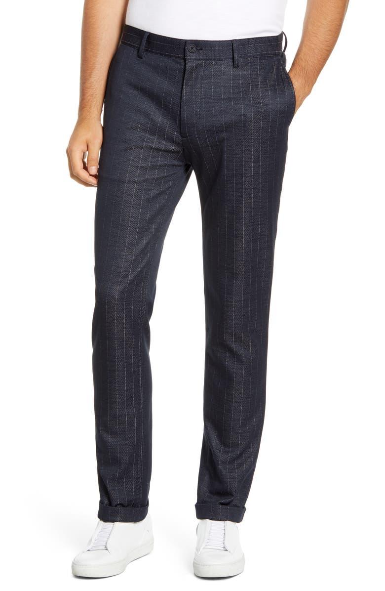 VINCE CAMUTO Tech Suit Pants, Main, color, NAVY STRIPE