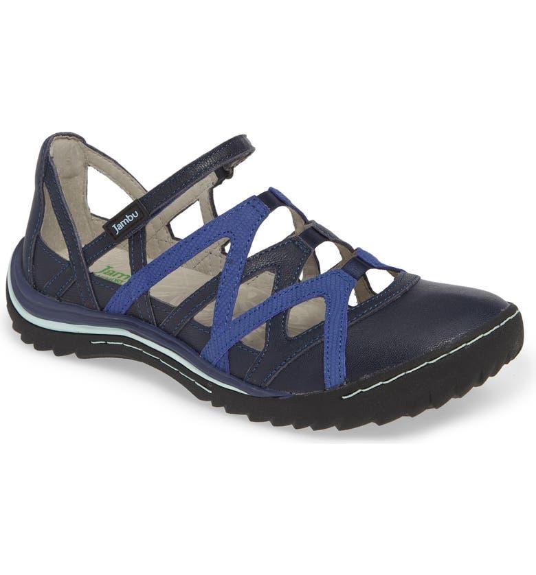 JAMBU Tangerine Gladiator Sport Sandal, Main, color, MARINE BLUE NUBUCK LEATHER