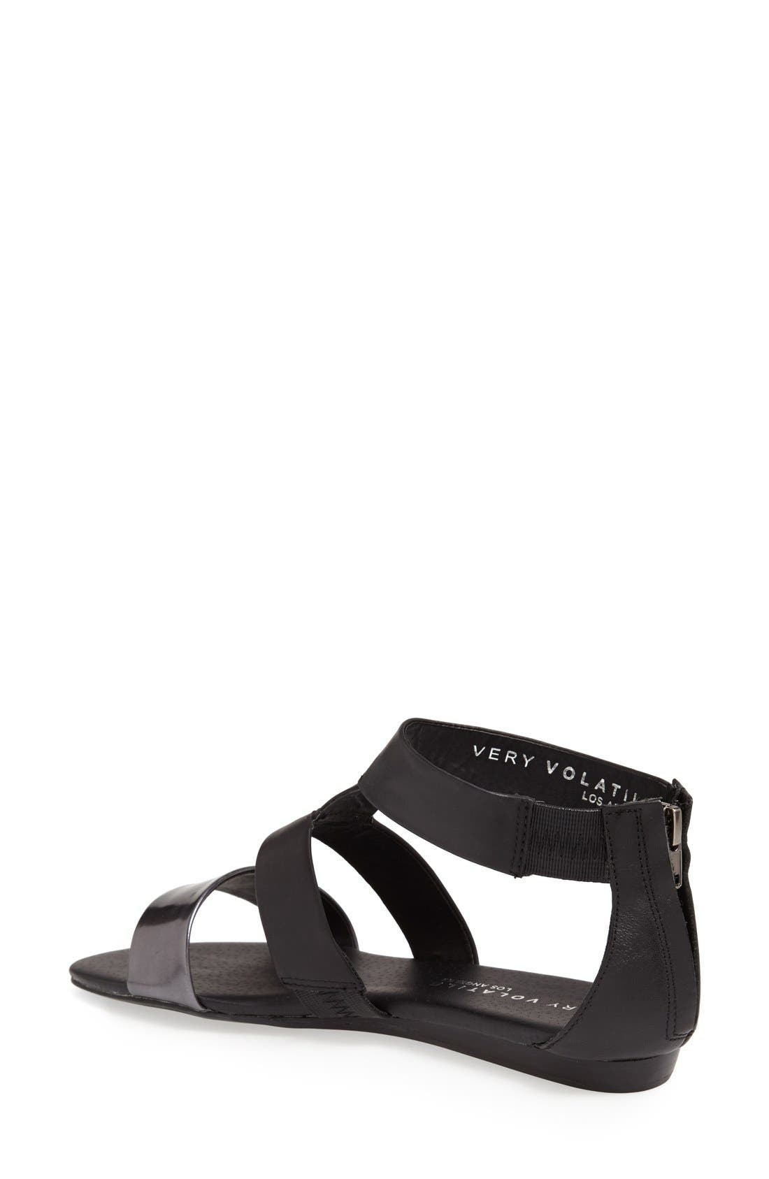 ,                             'Collective' Leather Sandal,                             Alternate thumbnail 2, color,                             001