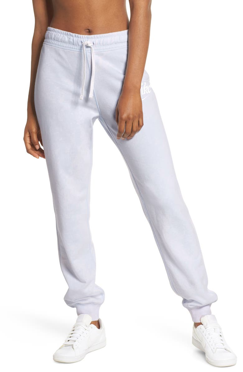 NIKE Sportswear Logo Sweatpants, Main, color, HALF BLUE/ SUMMIT WHITE