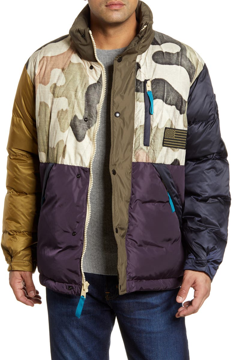 WOOLRICH x Griffin Second Life Down Puffer Jacket, Main, color, CAMOUFLAGE