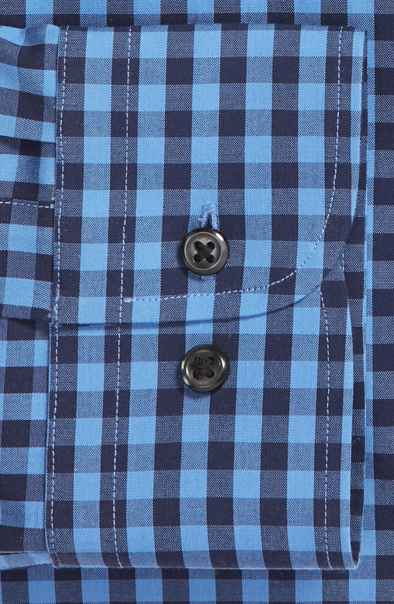 ,                             Tech-Smart Trim Fit Stretch Check Dress Shirt,                             Alternate thumbnail 38, color,                             455