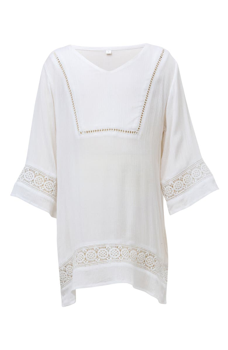 SNAPPER ROCK Cover-Up Caftan, Main, color, WHITE