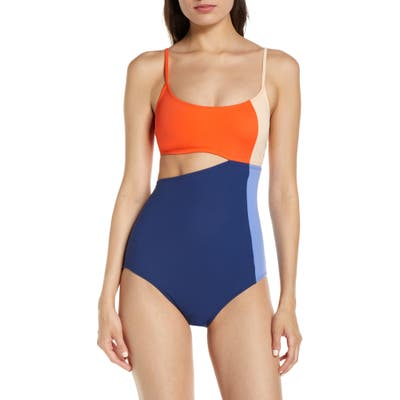 Flagpole Eve One-Piece Swimsuit, Red