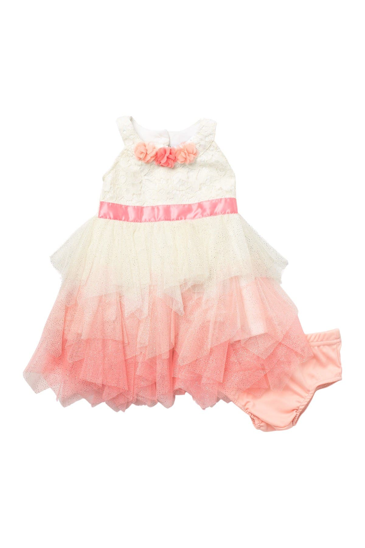 Image of Nicole Miller Tulle Dress & Bloomer Set