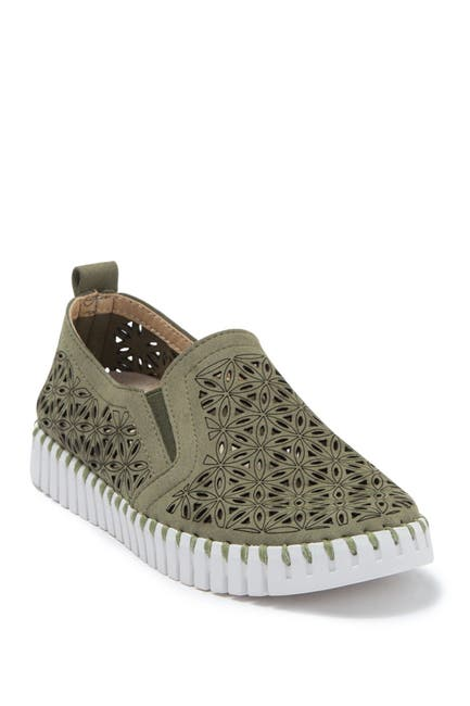 Image of Ilse Jacobsen Hornbaek Tulip Perforated Slip-On Sneaker